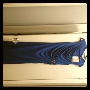 Cobalt blue bowl neck gown